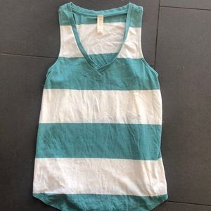 ALTAR'D STATE  green and white striped tank